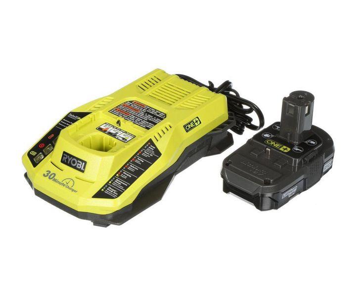 ONE+18-Volt Lithium-Ion Battery Charger Kit Ryobi Drill Saw Power Tools Cordless #Ryobi