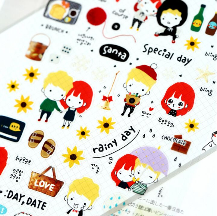 Aliexpress.com : Buy Cute Lovers All for You Decorative Sticker Nail Stickers Diary Album Label Sticker DIY Scrapbooking Stationery Stickers from Reliable sticker albums for collecting stickers suppliers on House of Novelty