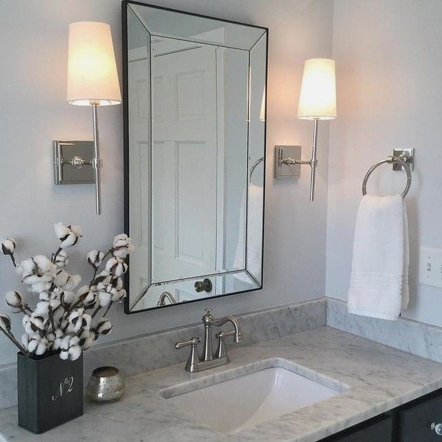 Our Medicine Cabinet Features A Wide Beveled Frame And A Beautiful Finish From E Small Bathroom Decor Bathroom Remodel Shower Bathroom Remodel Master