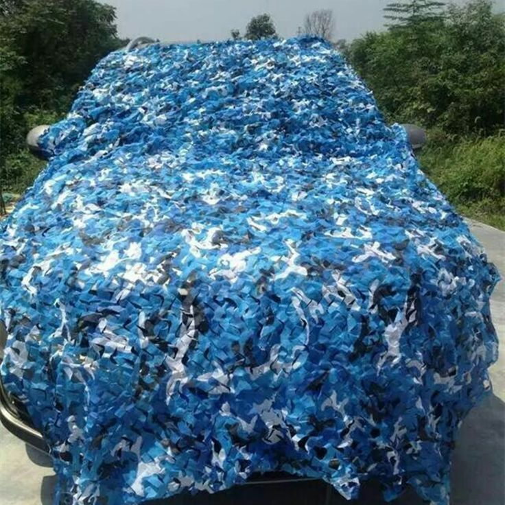 2.5M*10M filet camouflage netting  blue camo netting  for car sunshade event shelter object decoration gazebo netting camping