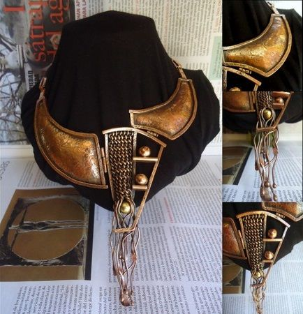 collar de cobre, joyeria de autor