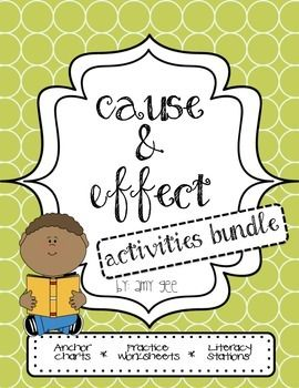 Use this Cause and Effect Activities Bundle to help reinforce the concepts with your students! The bundle includes Anchor Charts to help introduce Cause and Effect and Signal Words, 4 separate practice sheets, and 2 complete literacy stations! Activities are perfect for whole group teaching, independent practice, or literacy stations!