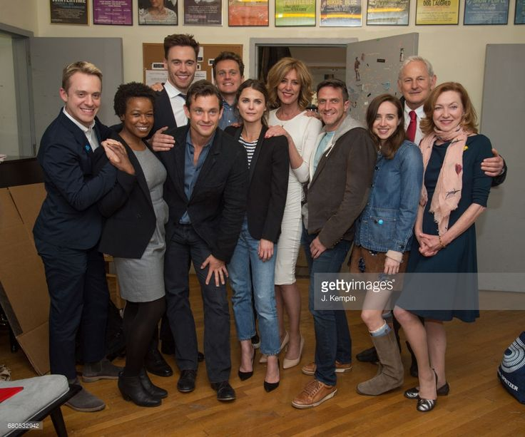Max Jenkins, Quincy Tyler Bernstine, Erich Bergen, Hugh Dancy, Jonathan Groff, Keri Russell, Christine Lahti, Raul Esparza, Zoe Kazan, Victor Garber and Julie White attend 'An American Daughter' Benefit Reading at Tony Kiser Theatre on May 8, 2017 in New York City.