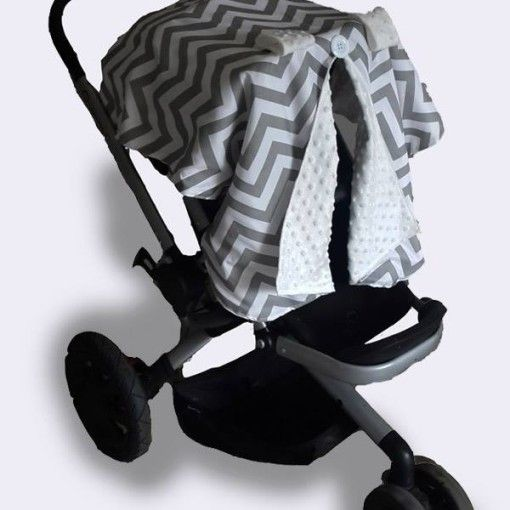 Car seat canopy winter grey chevron 1 #chevron #stone #carseatcanopy #moocachoo #babyproduct #handcrafted #onlineshopping #mommy #grey #pramcover #wintermusthave