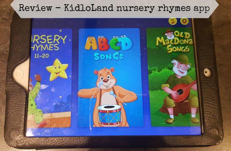 Review - KidloLand nursery rhymes app