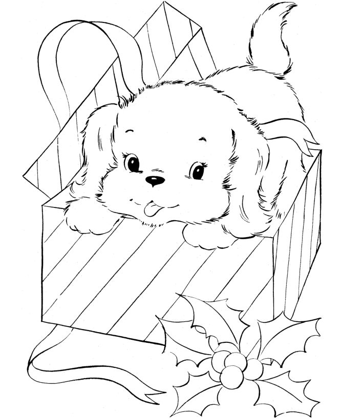 Disney Coloring Pages Christmas Puppies For Kids