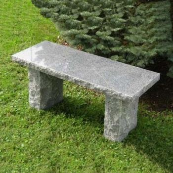 Solid charcoal granite stone bench #garden #bench #stone #granite