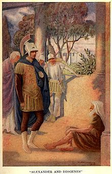 #Alexander_the_Great visits #Diogenes at #Corinth by W. Matthews (1914)