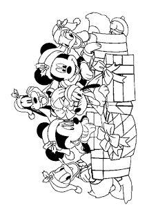 50 Desenhos De Natal Para Colorir Pintar E Imprimir Mickey E