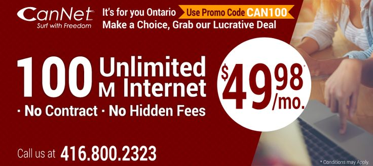 Are you facing the issues with the internet connection in your area? If yes than your internet plan is not the right one or your modem is not the right one you have chosen. It can be solved by choosing the right plan and modem.  For more offers and deals call us on 416-800-2323. we are happy to assist you 24/7.