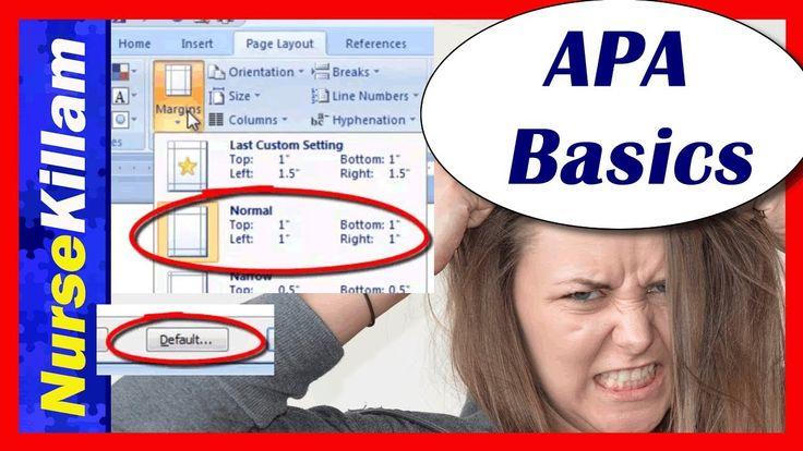 Basic APA Formatting (Video 1 of 4) 6th edition