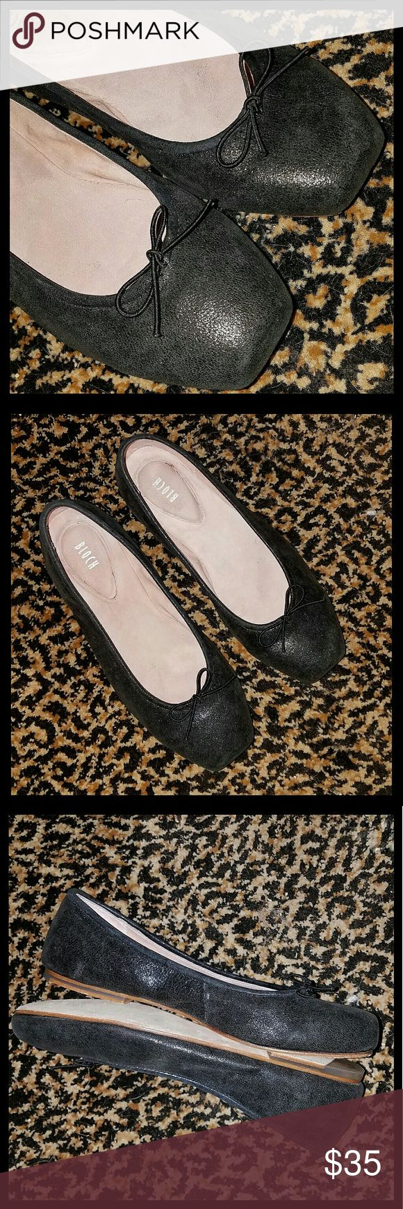 Bloch Ballet Flats Bloch square toe leather flats, w/leather soles. Very little signs of wear. Great condition. Bloch  Shoes Flats & Loafers