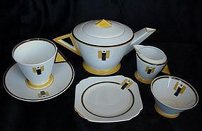 Shelley Mode Art Deco Tea for One Set 1930