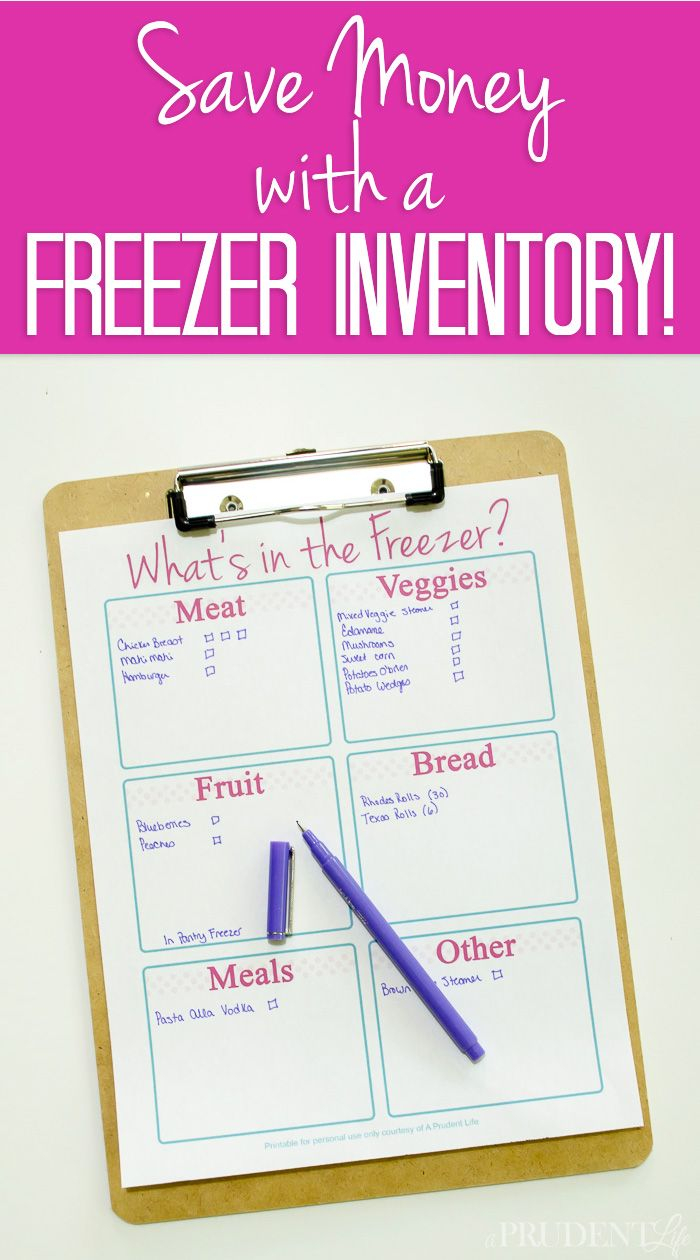 Make meal planning easier and save money by keeping an inventory of your…