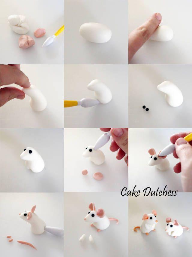Fondant Cake Toppers #6: Tiny Mice - CakesDecor