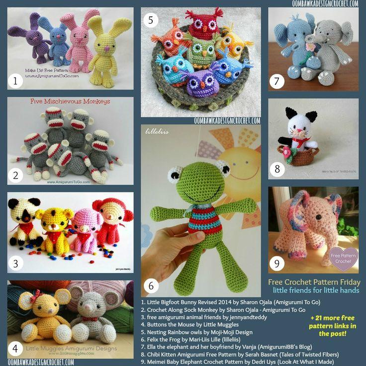 FCPF 30 Free Crochet Pattern Links for Little friends for little hands!