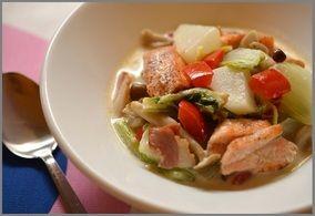鮭とかぶの中華クリームスープ レシピブログ
