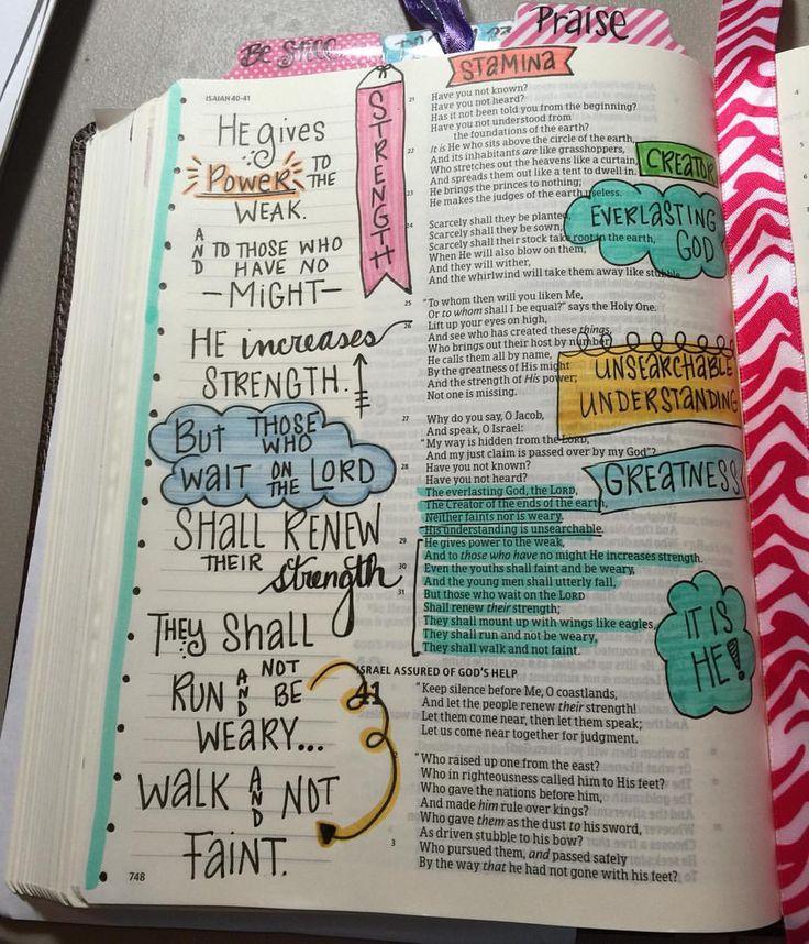 Isaiah 40:31 bible journaling illustrated faith