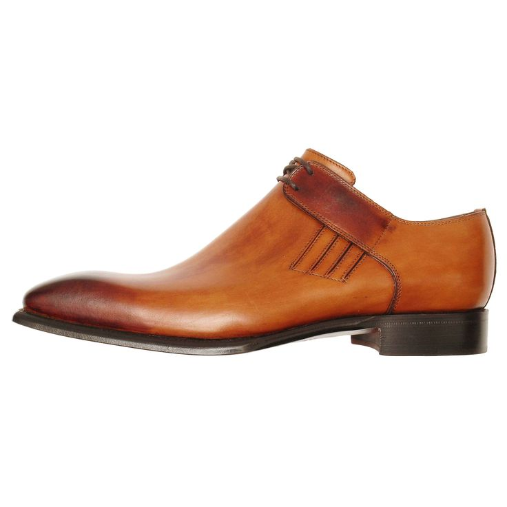 Shop Lacci Fratelli Borgioli made to order men's tan leather lace shoes. Hand Made by artisans in Italy. Buy online or in store at The Boardroom Belfast