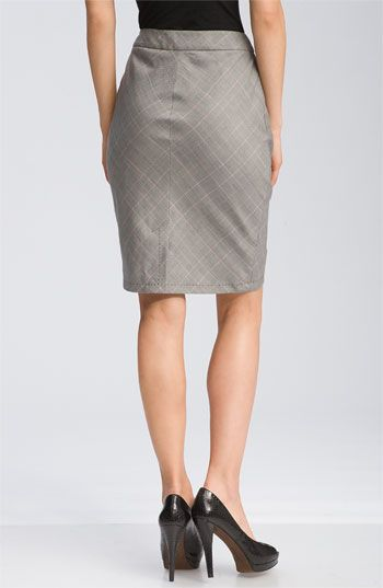 Ted Baker London Button Front Plaid Tulip Skirt   Nordstrom