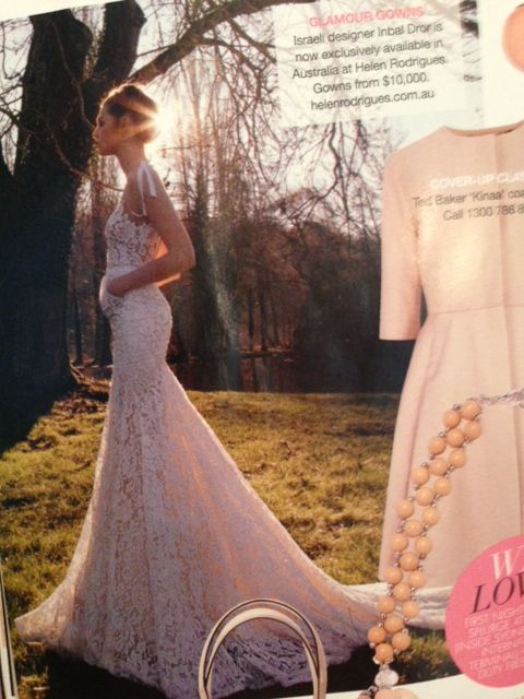 Helen Rodrigues featured in Bride to be Australia (Aug-Oct issue).