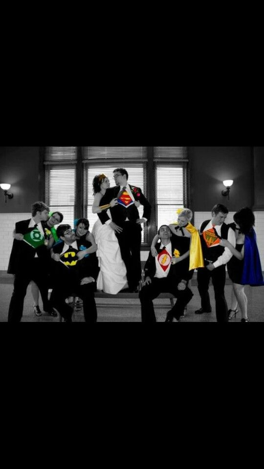 Super Hero wedding party