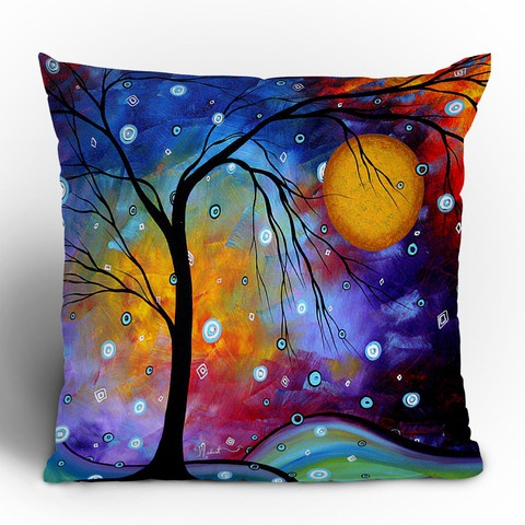 Love this pillow.: Home Accessories, Color, Art Prints, Trees, Throw Pillows, Painting, Deni Design, Design Home, Winter Sparkle