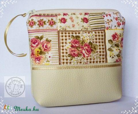 Meska - Rózsás kistáska pannika kézművestől