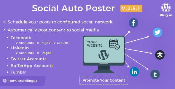 Social Auto Poster v2.5.0 - WordPress Plugin - PluginsMart