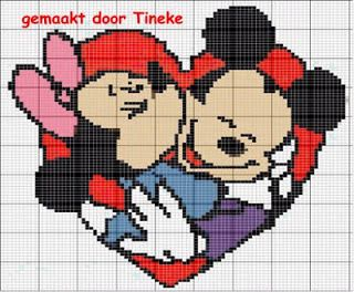 ....::*~°Bordados da Rê°~*::....: GRAFICO MINNIE& MICKEY