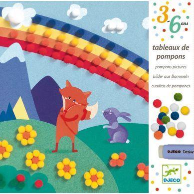 Djeco - Obrazek z Pomponów Tęcza