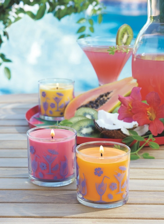 Here's what's on our Happy Hour candle menu: