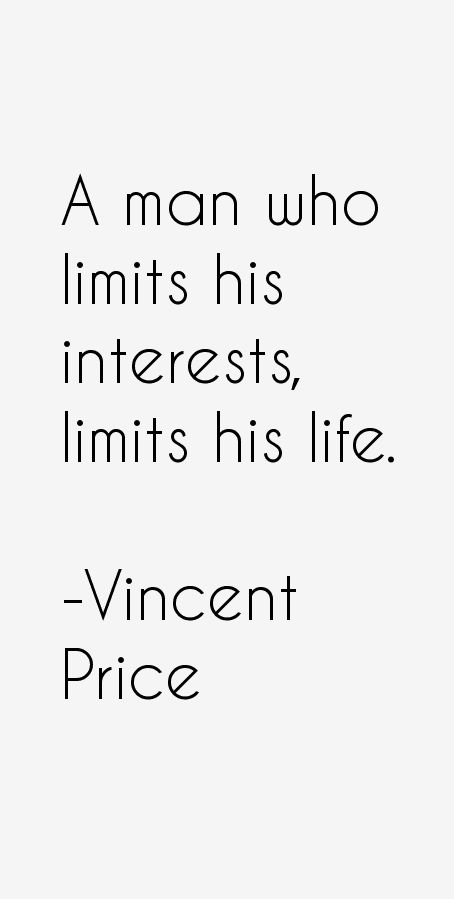 Vincent Price Quotes
