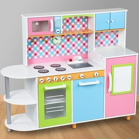 Childrens Play Kitchen Fridge Wooden Toy Kitchen Unit Role Play Microwave Oven    Make the Best this Wonderful Offer. At Toy shop Bargain WE always Find Great Stuff for you :)