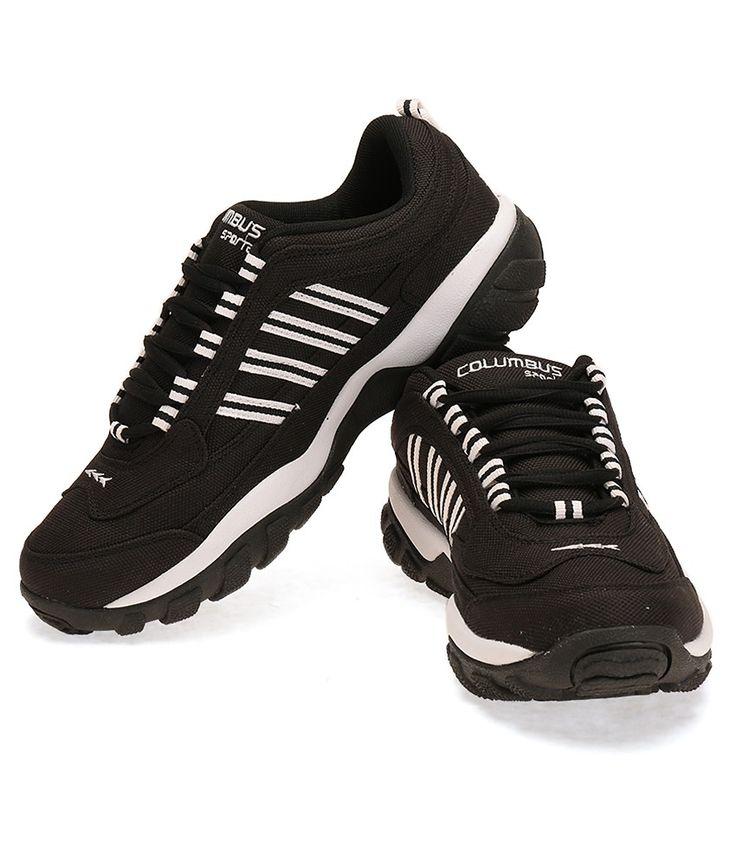 Columbus Texedo Black Sports Shoes