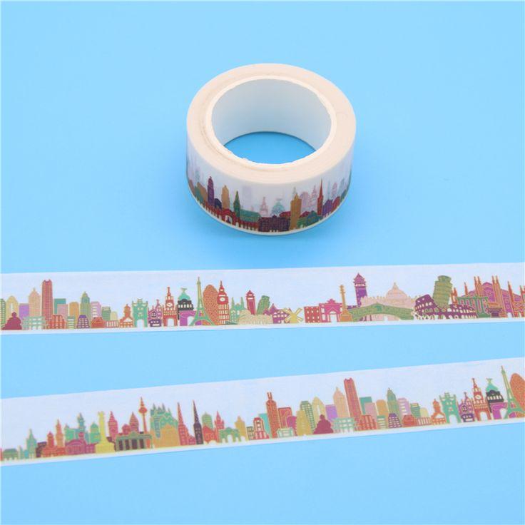 2cm X 10m Gorgeous Town Washi Tape Diy Decoration Scrapbooking Planner Masking Tape Adhesive Tape Kawaii Stationery