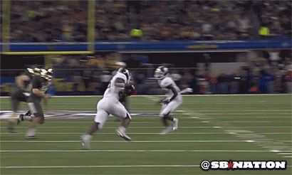 Michigan State likes to mess with the punters of other teams ;)