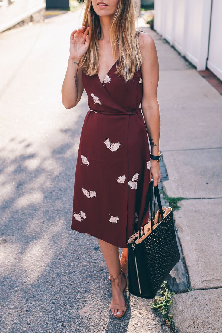 Stunning styles you can wear now and in the fall, from deep reds to beautiful prints, Jess Kirby styles a floral midi dress from Ann Taylor's latest arrivals.