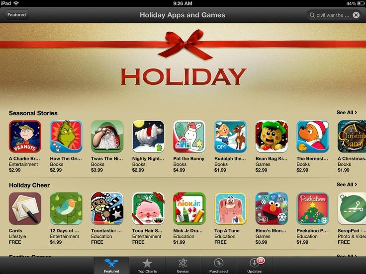 Holiday Apps & Games Featured in iPad App Store