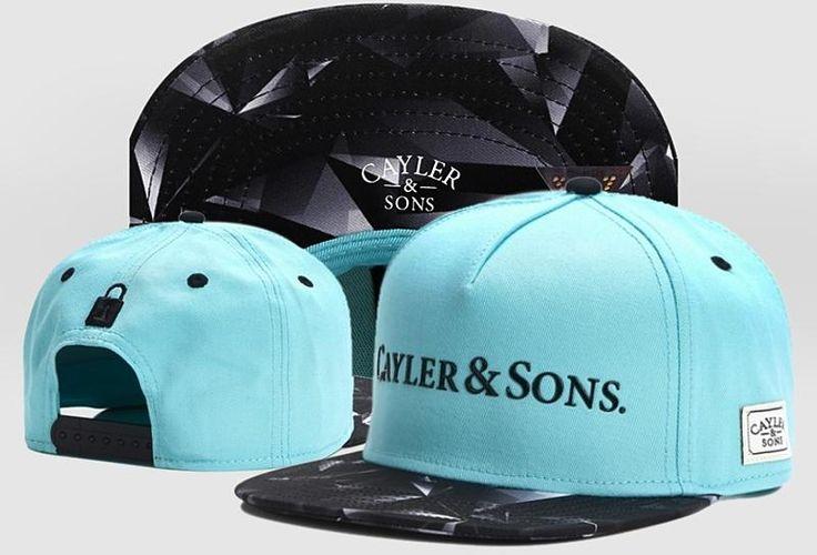 Men's Cayler & Sons C & S White Label BK ROCKS Snapback Hat - Mint / Black