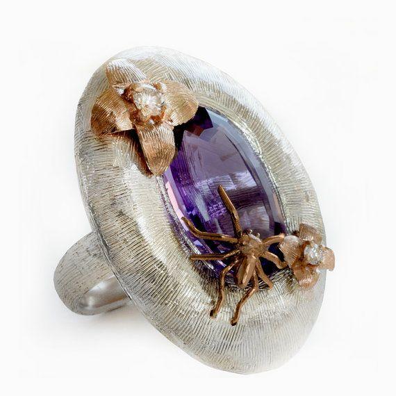Silver ring silver ring gold and silver ring di ArleneJewels