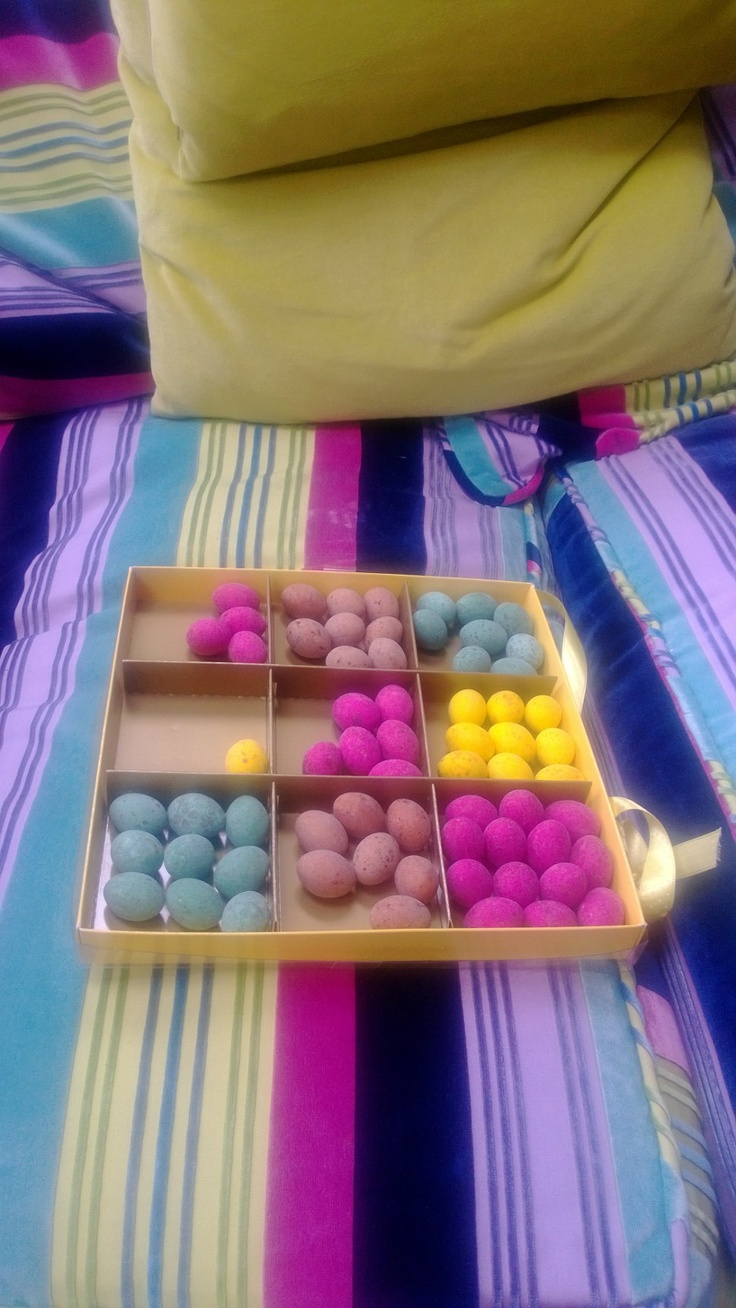 Colour coordinated eggs!