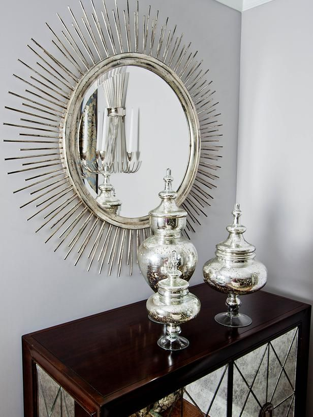 dining room hutch console table mirror door transitional dining rooms