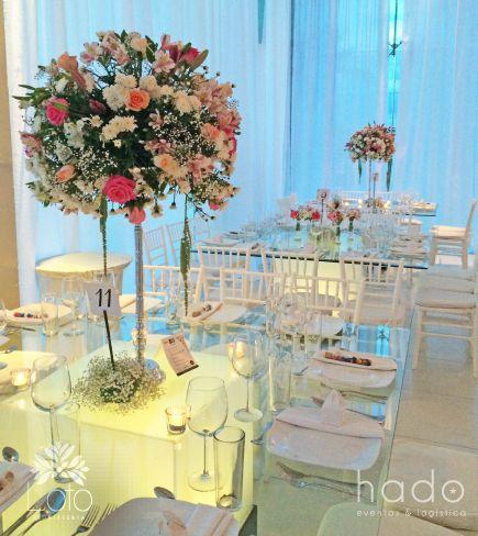 Decoracion boda. Centros de mesa. Pure romance wedding