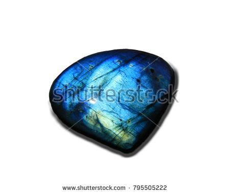 Labradorite stone blue color. Natural gemstone from Indonesia.