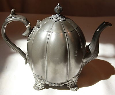 Antique Britannia Teapot Tea Pot Philip Ashbury & Sons Sheffield Pewter 4 390 A | eBay