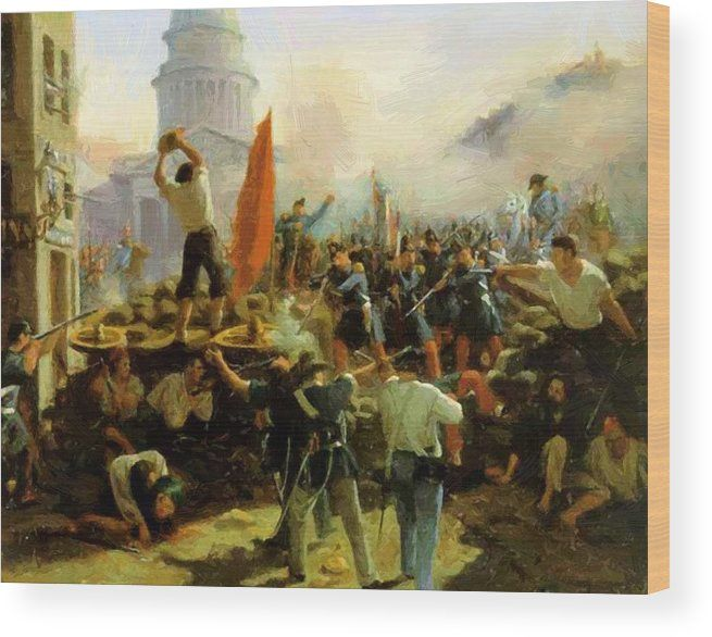 New Artwork Made With Love For You Ready To Decorate Your House Street Fighting On Rue Soufflot Paris June 25 1848 W Revolution French Revolution Painting
