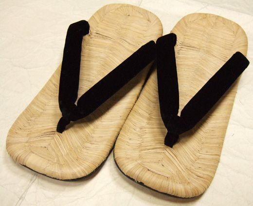 【紳士雪駄】 高級 本畳表 竹組みの風格 (フリー寸)鼻緒 白・黒