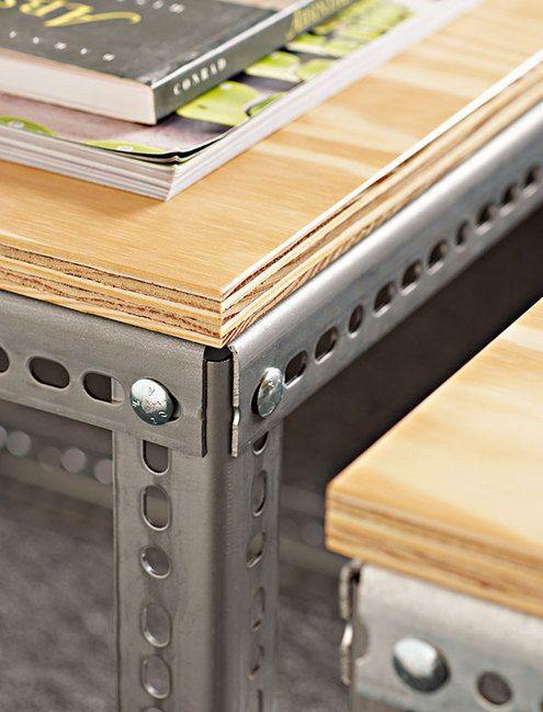 How To: Make a Stylish, Masculine Industrial Table | Man Made DIY | Crafts for Men | Keywords: industrial, chic, masculine, furniture
