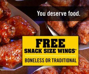 Get sports updates as well as sneak peeks at new menu items and exclusive offers when you join the Buffalo Circle. Sign up now and get a FREE order of snack size wings. #Olympics #Rio2016 #USAGold